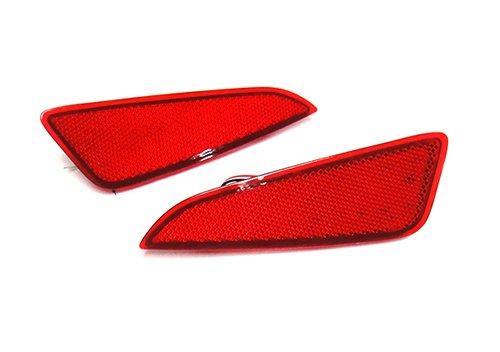 2 luces de freno traseras para parachoques trasero de lentes rojas con reflector LED antiniebla para C-HR de 2016