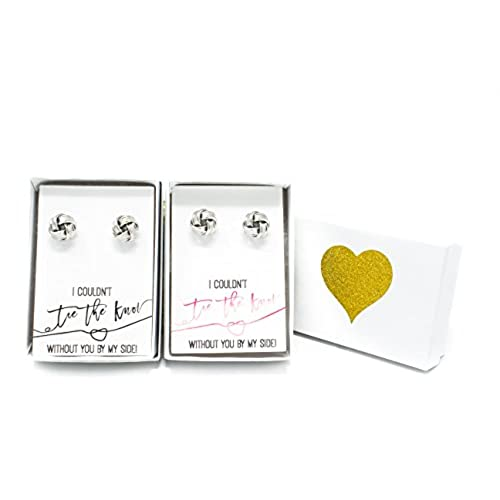 Bridesmaids Gifts - Silver Tie the Knot Earrings with Gift Box - I Canu0027t  sc 1 st  vkotrade.top Online & Bridesmaids Gifts - Silver Tie the Knot Earrings with Gift Box - I ...