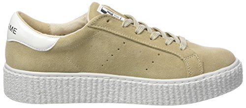 Beige No basse Donna sabbia Suede Picadilly Name Sneaker Sneakers a6q6wrI