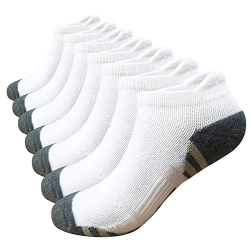 Copper Compression Low Cut Socks White 7 Pairs, S/M