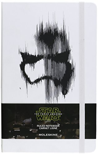 Moleskine Star Wars Episode VII Stormtrooper Limited Edition Notebook, Large, Ruled, White, Hard Cover (5 x -