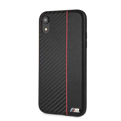 CG Mobile BMW iPhone XR Case Black/Red Hard Cell Phone Case Genuine Leather | Easily Accessible Ports | Officially Licensed. (Bmw Mobile)