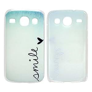Samsung Galaxy Core Plus Duos HARDCASE SONRISA del diseño del teléfono móvil del carcasa del protector del carcasa del tirón parachoques de la carcasa del smartphone thematys®