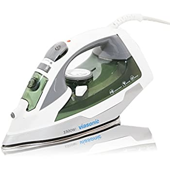 Viasonic Elite Steam Iron 1500W, Anti-Drip & Self-Cleaning, Anti-Calcium, Vertical Steam - Stainless Steel Soleplate - XL 300ML Tank - Steam, Spray, & Dry Functions - ETL Listed, by Unity
