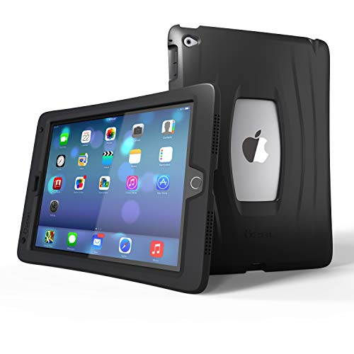 UZBL iPad 9.7 Case 2018/2017, AirWave Slim Lightweight Heavy Duty 1-Piece Silicone Case with Air Cell Drop Protection, for Apple iPad 5th / 6th Gen, Midnight Black