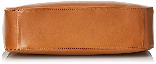 élégant in à Borsa Donna véritable Orange cuir main CTM 100 Cuoio 34x23x10cm bandoulière Italy sac Made RI7q5dY