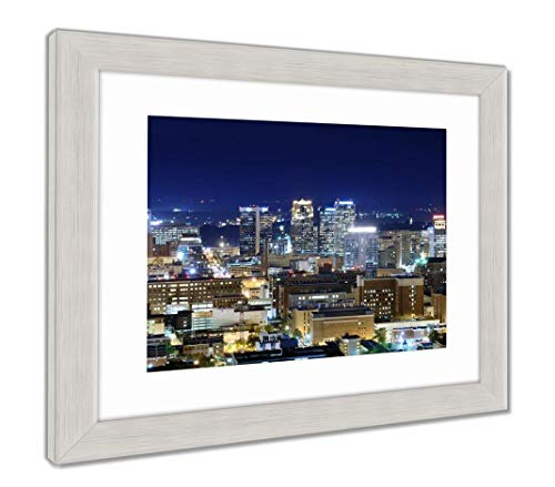 (Ashley Framed Prints Downtown Birmingham, Alabama, Wall Art Home Decoration, Color, 34x40 (Frame Size), Silver Frame, AG32675141)