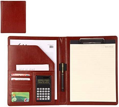 Konferenzmappe aus Leder, professionelle Rückenlehne, für Termine und Termine, LEDER, Weinrot, 320x248mm