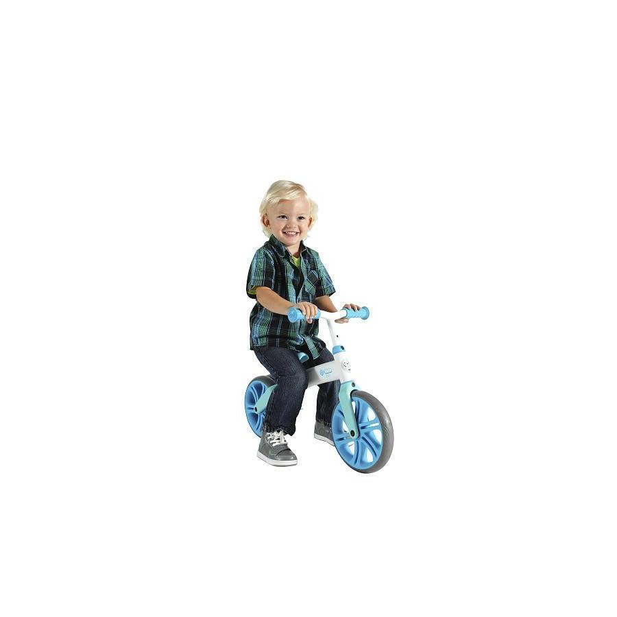Yvolution Y Velo Junior | No Pedal Balance Bike for Kids (Blue)