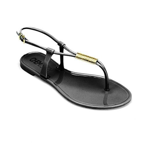 Gladiator Flat Black Roman Shoes Flops Sandals Womens DIANNA Adjustable Chemistry® Thong Strap Ankle Flip Ux4ppZ