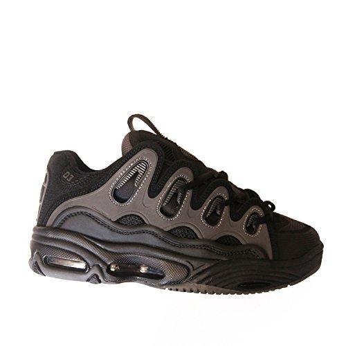 OSIRIS D3 2001 Black Grey Dave Mayhew Skate Skateboard Shoes Gris - gris