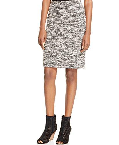 Grace Elements Womens Marled Tweed Pencil Skirt Green M