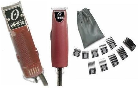Oster Classic 76 Hair Clipper and T-Finisher a 10 piece comb set Package. by Oster