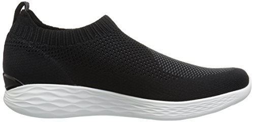 Pure Skechers para Mujer Black Cordones Zapatillas sin You White Negro 45x5qg
