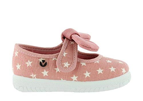 Victoria Mercedes Estrellas Pañuelo - Primeros Pasos de Lona Bebé-Niños Rosa