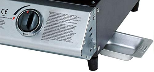 Eurotel ® Plancha à Gaz - Acier INOX - 6.3 KW - 48 x 45 x 19 cm