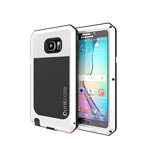 Shockproof Armor Case for Samsung Galaxy Note 5 (White) - 2