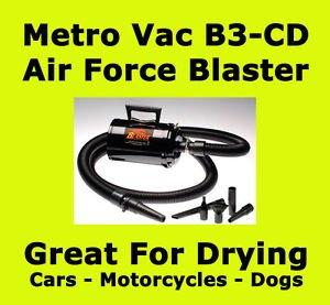 METROPVAC B3-CD Air Force Blaster MC Dryer Metro-Vac-B3-CD-Air-Force-Blaster-Dryer-For-Cars-Motorcycles-Dogs-B