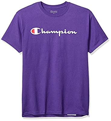 Champion Men's Graphic Jersey Tee, Purple, X-Large