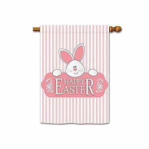 hamory Cute Conejo decorativo de Pascua bandera de Jardín