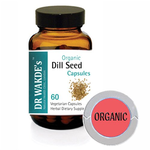 DR WAKDE'S Dill Seed Capsules (Anethum graveolans) I 100% Herbal I 60 Veggie Capsules I Ayurvedic Supplement I FREE SHIPPING on multiples I Quantity Discounts I Same Day Dispatch
