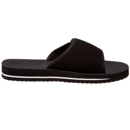Fila Herren Slip On Sandale Schwarz / Weiß / Rot