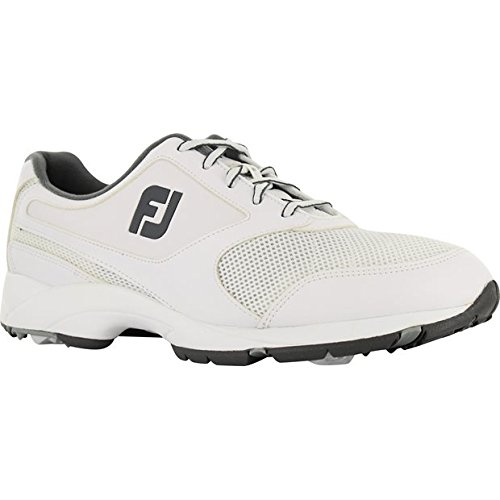 FootJoy Men's Athletics Lightweight Flexibility Turf Grip Golf Shoes ( White / 120 - Footjoy Golf Shoes Classics