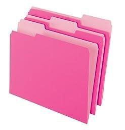 Pendaflex 2-Tone File Folders, 1/3 Cut, Top Tab, Legal Size, Light Pink, 100 per Box (153 1/3 PIN)