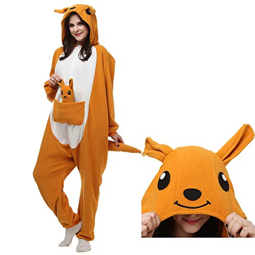 (YoCozy Kangaroo Onesie Outfit for Adult and Teenagers. Unisex Halloween Xmas Costume,S)