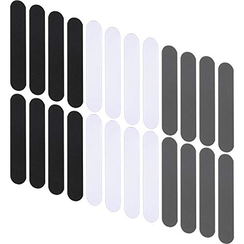 48 Pieces Hat Size Reducer Hat Sizing Tape Foam Reducing Tape Hats Tape Caps Sweatband, Tighten Reducing Tape Men and Women's Hats (Black, White, Gray)