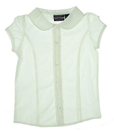 Nautica Little Girl's Cap Sleeve School Uniform Shirt Medium 5