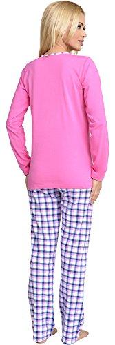Be Mammy Mujer Lactancia Pijamas Dos Piezas Grete Rosa