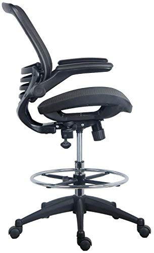 Harwick Evolve All Mesh Heavy Duty Drafting Chair, Dark Knight Edition