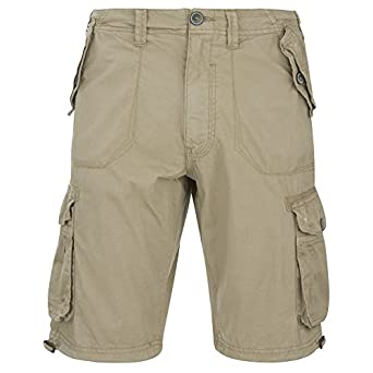 261c5dbf94 Brave Soul Mens George Cargo Shorts - Stone - XL: Amazon.co.uk: Clothing