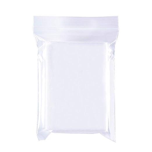 BENECREAT 200 Pack Bolsas Transparente con Cierre 7x10cm Bolsa Resellable de Plástico Multiuso para Gallete Chocolate Cuentas Joyería