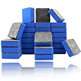 20Pcs Mini Whiteboard Erasers, Square Portable Easy To Wipe Seamless Small Eraser Set For Kids School Office Home Classroom,Blue