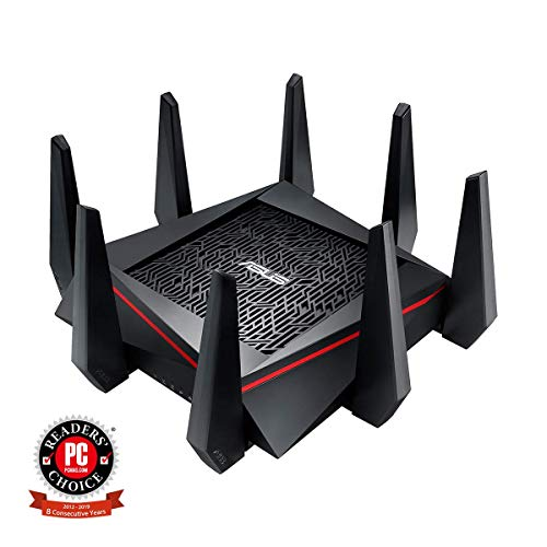 ASUS RT-AC5300 AC5300 Tri-Band WiFi Gaming Router, MU-MIMO, AiProtection Lifetime Security by Trend Micro, AiMesh Compatible for Mesh WiFi System, WTFast Game Accelerator from ASUS