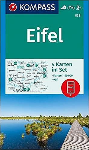 Eifel 4 Set 4 Wanderkarten 1 50 000 Im Set Inklusive Karte Zur