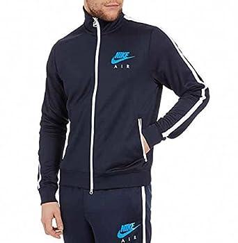 info for c088d cfb2a Nike Air Limitless pour Homme Fermeture Éclair complète Jogging Complet  Survêtement Bleu Marine - Bleu -