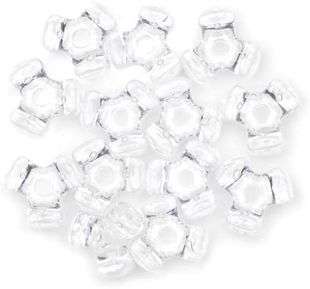 11 mm Acrylic Tri Beads Bulk 1,000 Pieces 25 Colors Available