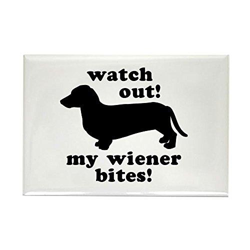 (CafePress My Wiener Bites Rectangle Magnet Rectangle Magnet, 2