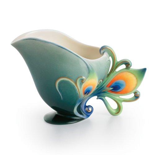 Franz Porcelain Peacock Creamer