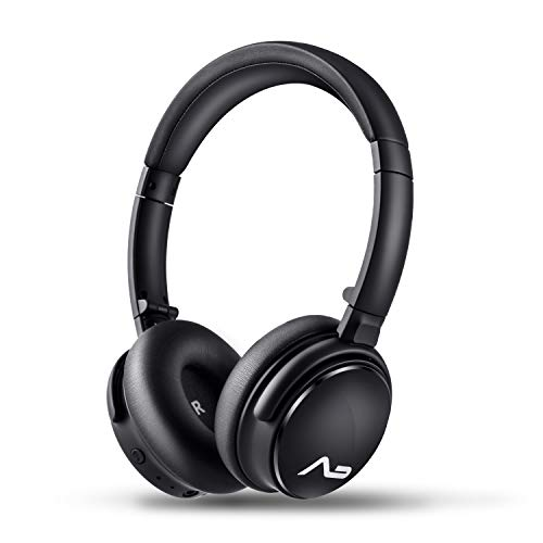 Lasmex HB-69 Bluetooth Headphone Over Ear, Hi-Fi Stereo Wireless Headset Ergonomic Protein Earpads丨Noise Reduction丨Built in Deep Bass丨Foldable Telescopic Arms丨Wired Mode for Travel Work TV PC Mobile ()