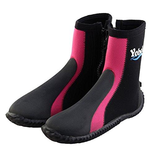 Wasser Paar sourcingmap Schuhe 5 Anz Winter Tauchen e Surfen US Fuchsia Stiefel Strand Outdoor zF5FTq
