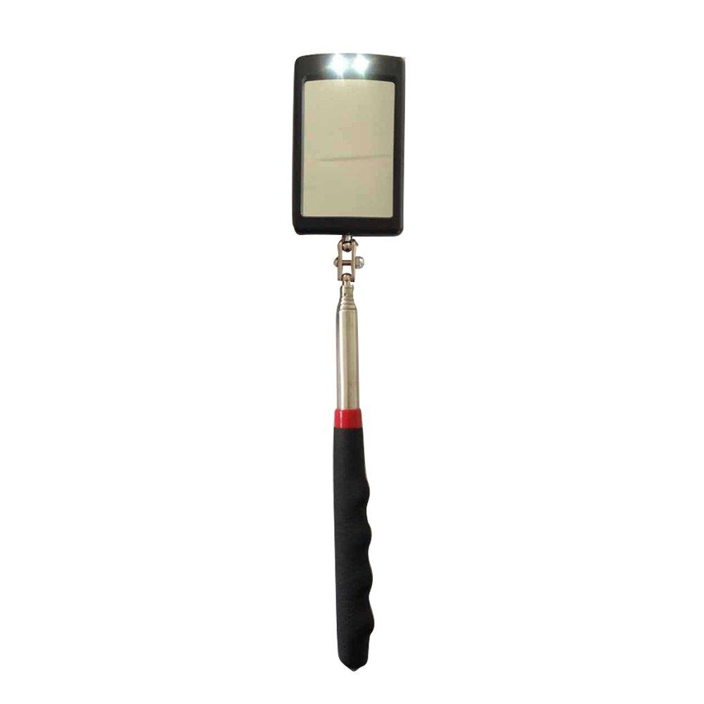 Veh/ículo Parte Inferior telesc/ópico Espejo de inspecci/ón LED Espejo con una l/ámpara de luz 360/Giratorio Soporte de detecci/ón de amplificaci/ón ipx-3/Impermeable Flexible m/áxima de Barra hasta 87.3/&