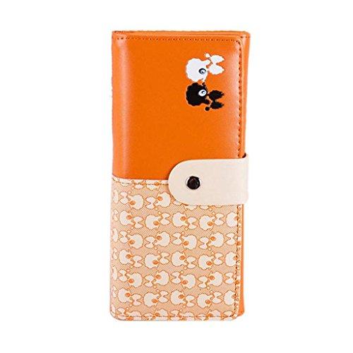 TOOPOOT(TM) Women Cute Sheep Clutch Card Holder Handbag Wallet (Orange)