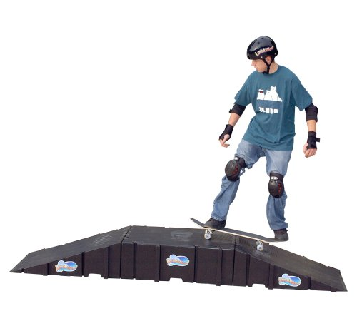 Plastic Ramp Skateboard (Landwave Skateboard Starter Kit with 2 Ramps and 1 Deck)