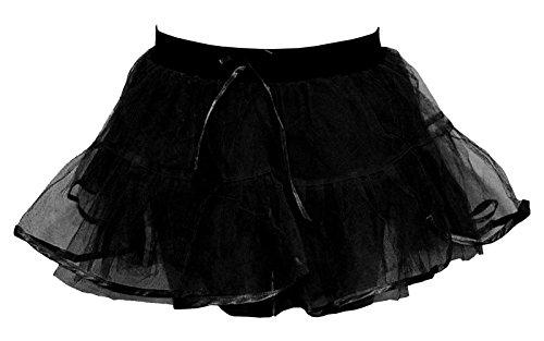 Nuit Plus Couches Jupe Ballet Net de Tutu 4 Dames Fancy Nouveau Mini Poule Femmes Noir Fte Danse Janisramone Halloween TH0qAA
