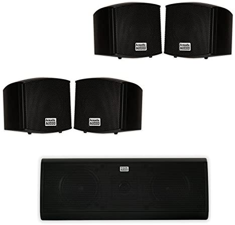 Acoustic Audio AA321B and AA40CB Indoor Audio system Dwelling Theater 5 Speaker Set