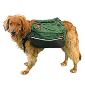 "Kyjen Outward Hound Dog Quick Release Backpack XLarge hunter green for Dogs over 80lbs & 36"" -48"" in girth"